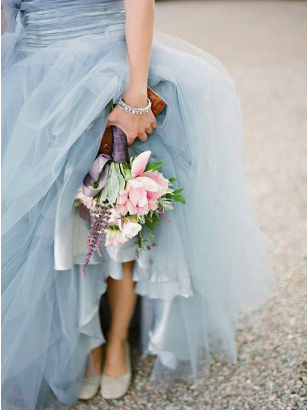 pantone serenity wedding dress